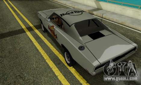 Dodge Charger 1969 Hard Rock Cafe for GTA San Andreas back left view