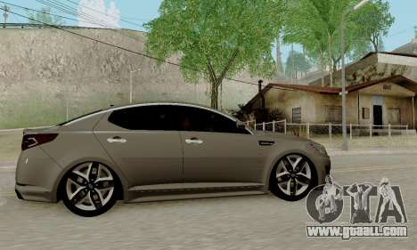 Kia Optima Stock for GTA San Andreas back left view