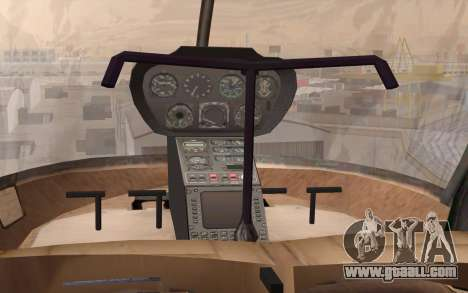 Robinson R22 for GTA San Andreas back view