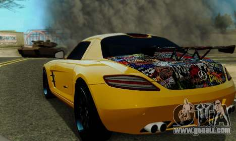 Mercedes SLS AMG Hamann 2010 Metal Style for GTA San Andreas side view