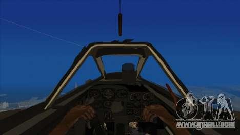 Messerschmitt Me.262 Schwalbe for GTA San Andreas back view