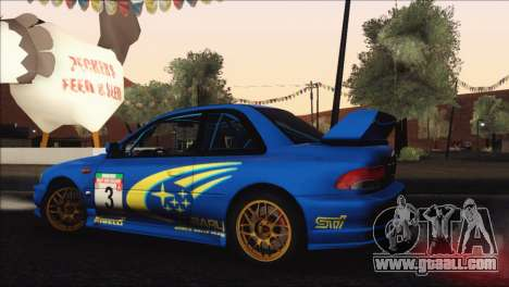 Subaru Impreza 22B STi 1998 for GTA San Andreas bottom view