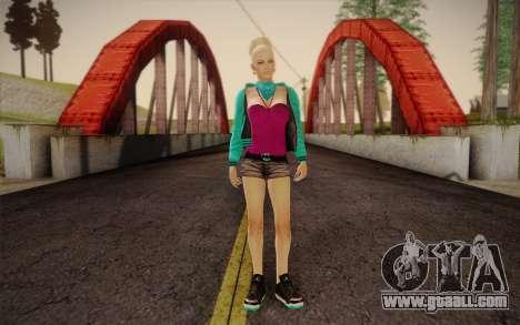Pretty girl for GTA San Andreas