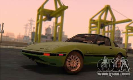 Mazda RX-7 GSL-SE 1985 HQLM for GTA San Andreas