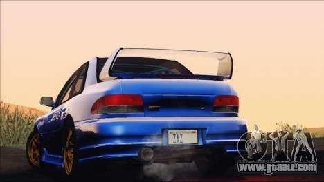 Subaru Impreza 22B STi 1998 for GTA San Andreas inner view
