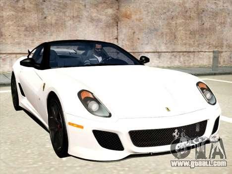 Ferrari 599 GTO for GTA San Andreas interior