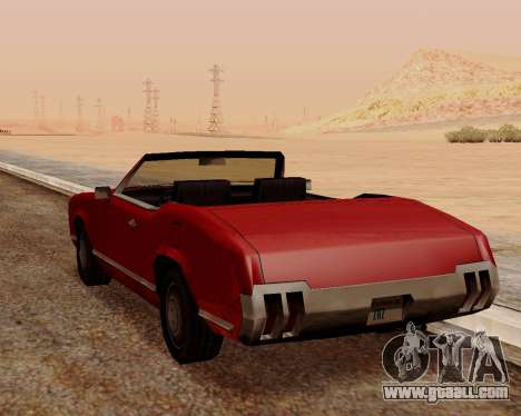 Sabre Convertible for GTA San Andreas back left view