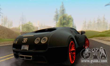 Bugatti Veyron Super Sport 2011 for GTA San Andreas right view