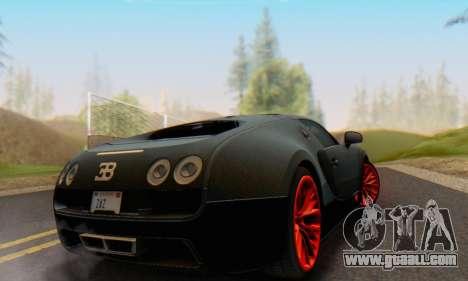 Bugatti Veyron Super Sport 2011 for GTA San Andreas right view