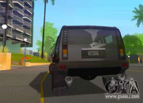 Hummer H2 Limousine for GTA San Andreas right view