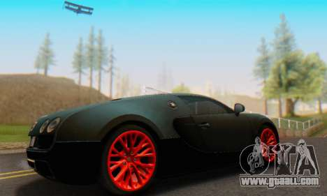 Bugatti Veyron Super Sport 2011 for GTA San Andreas back left view