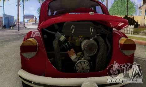 1973 Volkswagen Beetle for GTA San Andreas interior