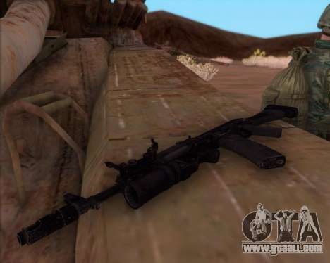 Kalashnikov AK-74M for GTA San Andreas second screenshot