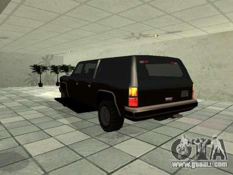 SWAT Original Cruiser for GTA San Andreas back left view
