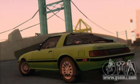 Mazda RX-7 GSL-SE 1985 HQLM for GTA San Andreas left view