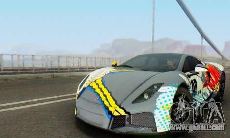 GTA Spano 2014 IVF for GTA San Andreas upper view