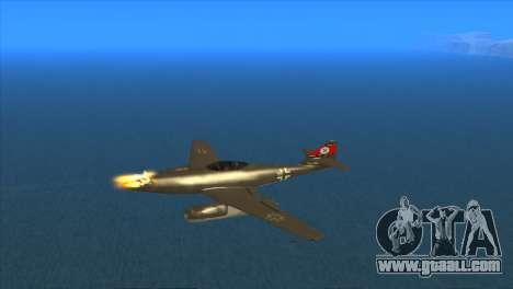 Messerschmitt Me.262 Schwalbe for GTA San Andreas inner view