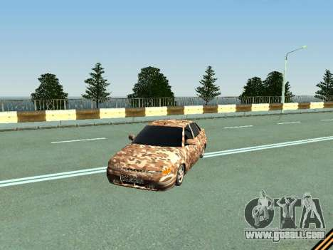 VAZ 2110 camouflage for GTA San Andreas left view