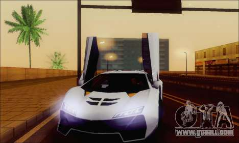 Zentorno GTA 5 V.1 for GTA San Andreas wheels
