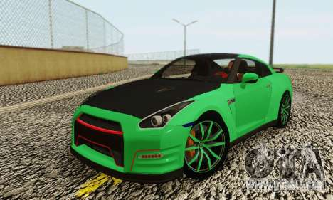 Nissan GTR Streets Edition for GTA San Andreas back left view