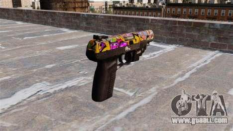 Gun FN Five seveN LAM Graffitti for GTA 4 second screenshot