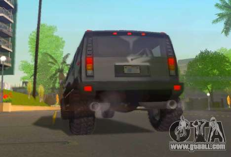 Hummer H2 Limousine for GTA San Andreas back view