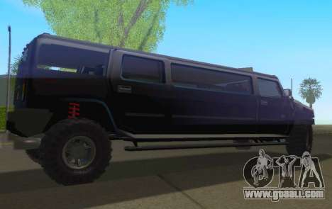 Hummer H2 Limousine for GTA San Andreas left view