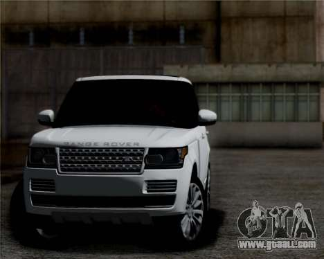 Range Rover Vogue 2014 for GTA San Andreas left view