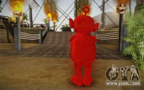 On of the Teletubbies for GTA San Andreas second screenshot