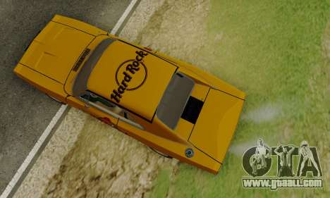 Dodge Charger 1969 Hard Rock Cafe for GTA San Andreas inner view