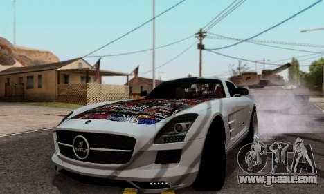 Mercedes SLS AMG Hamann 2010 Metal Style for GTA San Andreas left view