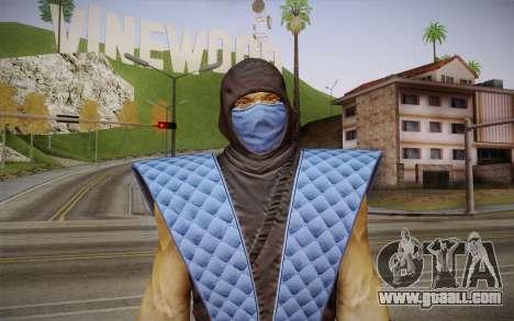 Classic Sub Zero из MK9 DLC for GTA San Andreas third screenshot
