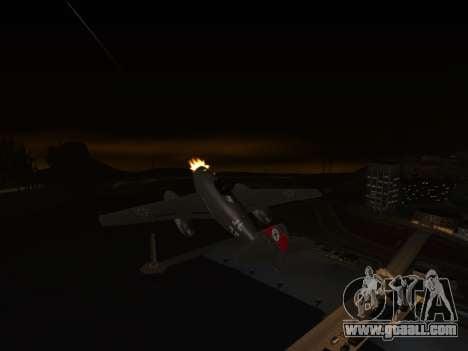 Messerschmitt Me.262 Schwalbe for GTA San Andreas back left view