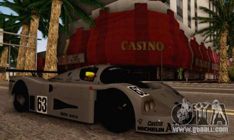 Mercedes Benz Sauber C63 1989 for GTA San Andreas right view