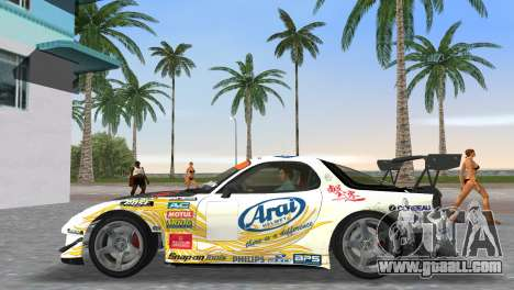Mazda RX7 FD3S RE Amamiya Arial for GTA Vice City back left view