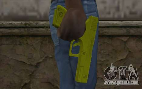 Golden Glock 18C for GTA San Andreas third screenshot