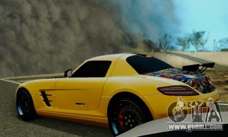 Mercedes SLS AMG Hamann 2010 Metal Style for GTA San Andreas upper view