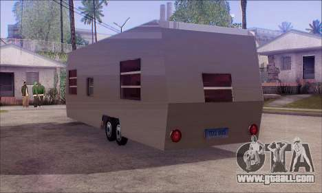 The Caravan Trailer for GTA San Andreas left view