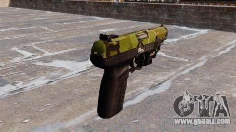 Gun FN Five seveN LAM Woodland for GTA 4 second screenshot