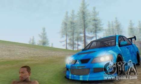 Mitsubishi Lancer Evolution IIIX Blue Star for GTA San Andreas back left view