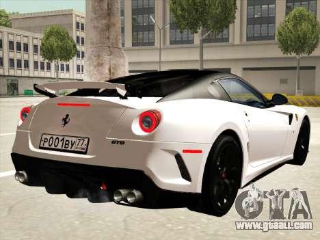 Ferrari 599 GTO for GTA San Andreas engine