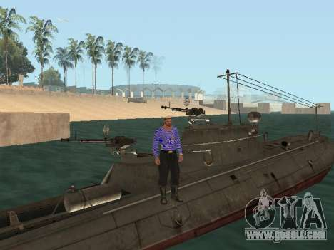 Torpedo boat type G-5 for GTA San Andreas engine