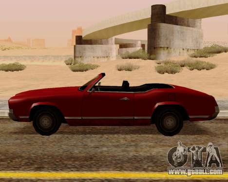 Sabre Convertible for GTA San Andreas left view
