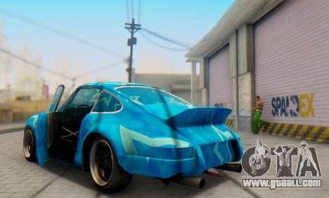 Porsche 911 Blue Star for GTA San Andreas side view