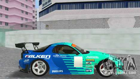 Mazda RX7 FD3S RE Amamiya Falken for GTA Vice City right view