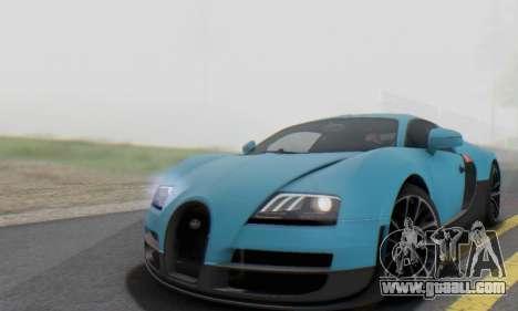 Bugatti Veyron Super Sport 2011 for GTA San Andreas side view