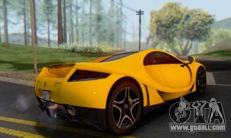 GTA Spano 2014 IVF for GTA San Andreas back view