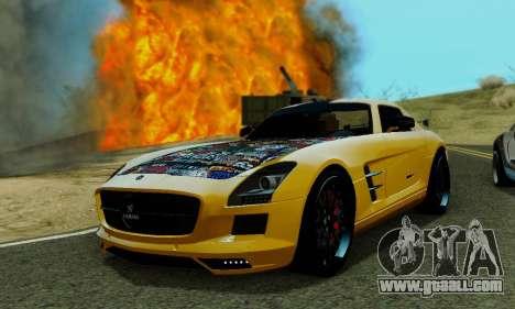 Mercedes SLS AMG Hamann 2010 Metal Style for GTA San Andreas inner view