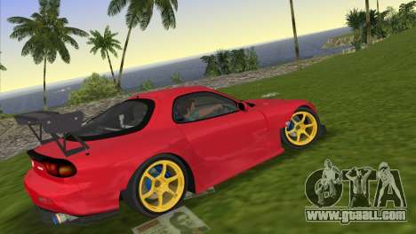 Mazda RX7 FD3S RE Amamiya Road Version for GTA Vice City left view