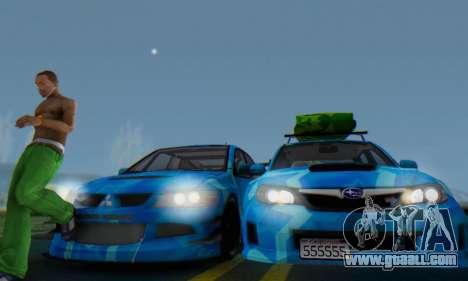 Subaru Impreza Blue Star for GTA San Andreas inner view